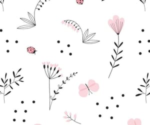 ladybird, wallpaper, and pink image