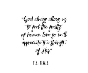 cs lewis, quote, and god image