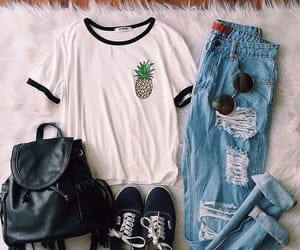 clothes, fashion, and pineapple image