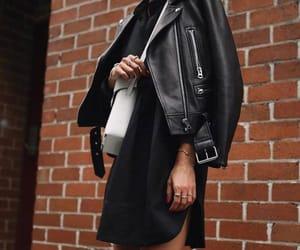 black, dress, and jacket image