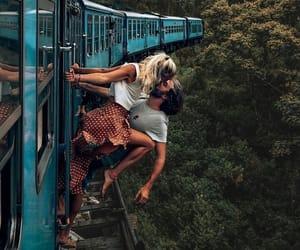 couple, kiss, and moment image