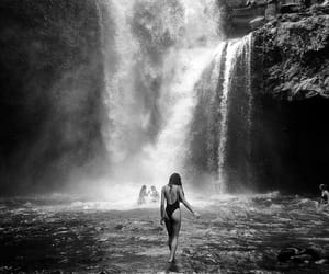 moment and waterfall image