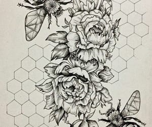 art, bees, and design image