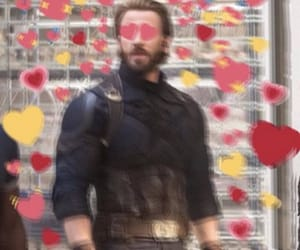 captain america, chris evans, and hearts image