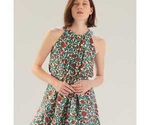 floral dress, retro, and pleats image