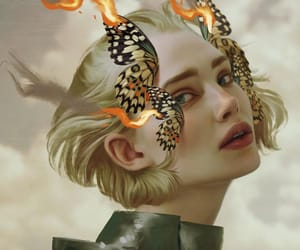 allegory, surreal, and butterflies image