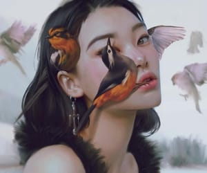 allegory, beauty, and birds image