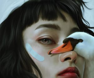 allegory, portrait, and Swan image