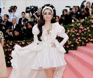 lily collins, actress, and met gala image