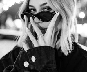 hailey baldwin, black and white, and model image