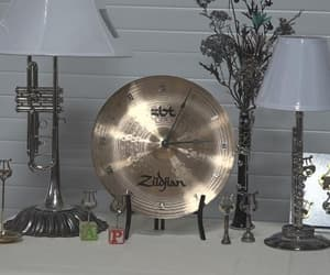 clock, cymbal, and drum image
