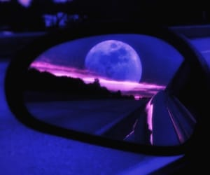 moon, car, and aesthetic image