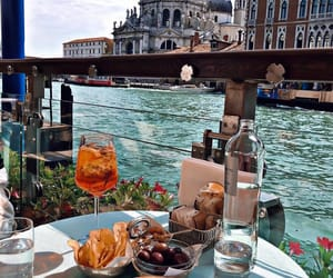 food, venice, and italy image