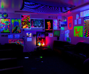 room, neon, and cool image