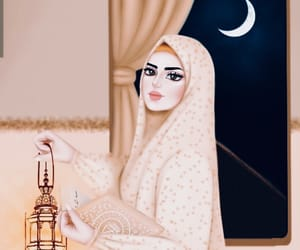 girl, islam, and Ramadan image