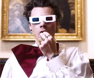 3d glasses, gif, and one direction image
