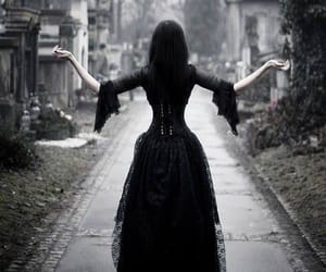 gothic, black, and cemetery image