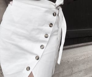 buttons, fashion, and skirt image