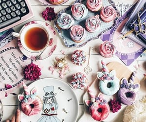 cake, chocolate, and donuts image