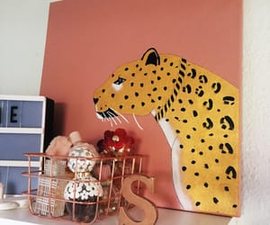 gold, stylish, and leopard image
