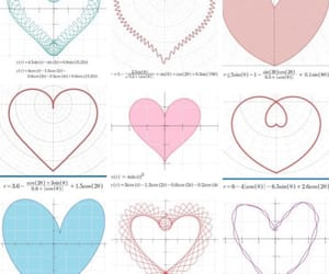 aesthetic, heart, and math image