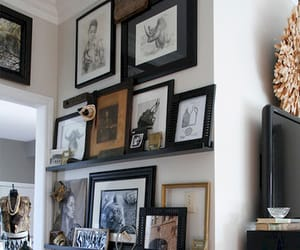 picture frames, shelf, and ledge image