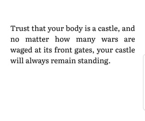 body, books, and castle image