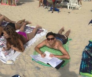 books, enjoying, and summer vacation image