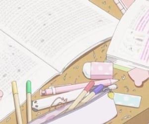 anime, book, and study image