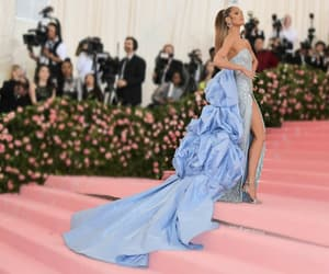 blue, gown, and sexy image