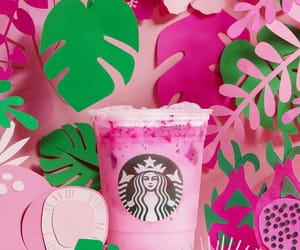 coffee, drinks, and pink image
