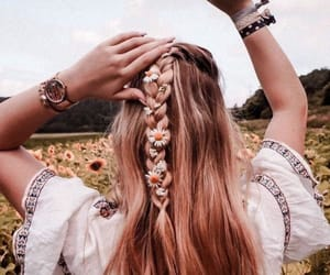 blonde, braid, and fashion image