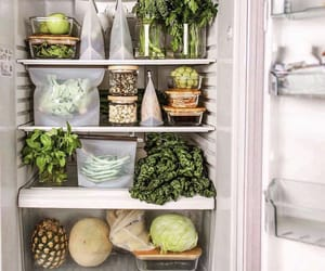 fridge, pineapple, and vegan image