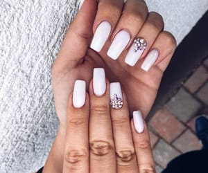 gems, nails, and white image