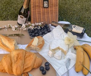 picnic, cheese, and drinks image