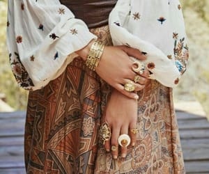 bohemian, outfit, and style image