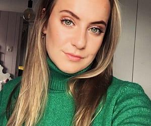 blond hair, eyes, and make-up image
