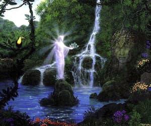 visionary art, gilbert williams, and paradise goddess image