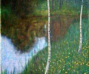 Gustav Klimt and landscape image