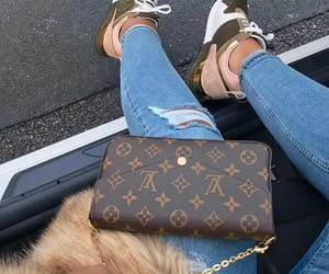 fashion, jeans, and Louis Vuitton image