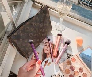 brush, cosmetics, and fashion image