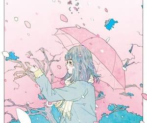 anime girl, gif, and sakura image