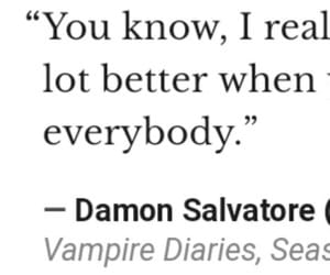 quote, damon salvatore, and tvd image