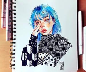 art, artist, and billie image