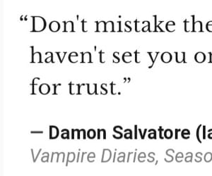 quote, the vampire diaries, and damon salvatore image