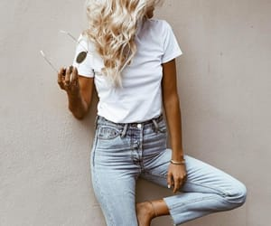 chic, jeans, and outfit image