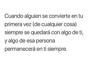 P, frases en español, and primera vez image