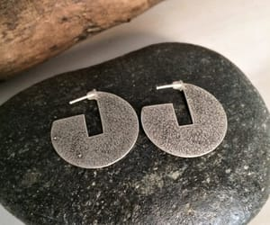 etsy, round earrings, and silver earrings image
