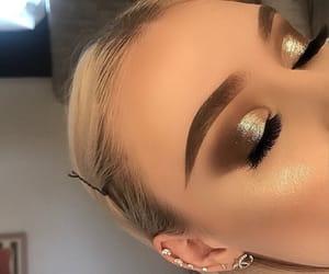 beauty, eyeshadow, and prom makeup image