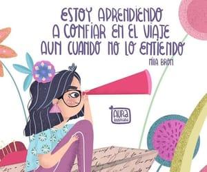 vida, viaje, and frases español image
